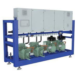 Compresores Múltiples Sistema inteligente de distribución de aceite sin partes móviles.
