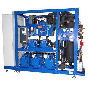 Transcrítico Booster System  Temperatura media y baja Refrigerante natural.