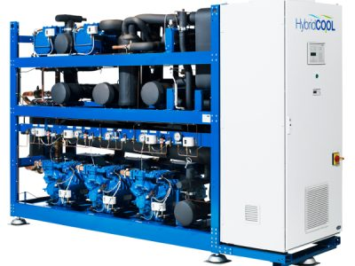 Un solo marco que combina la sección MT la sección LT y el intercambiador de calor.