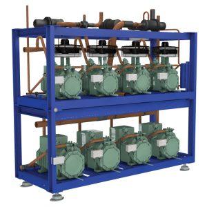 Compresor de motor semiautomático de bajo consumo de energía con desplazamiento base.