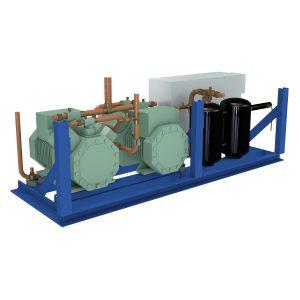 Compresor múltiple Sistema de temperatura media y baja semierméticos.
